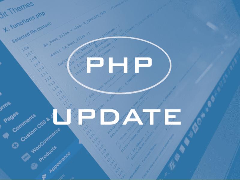 Managed Web Hosting PHP Update